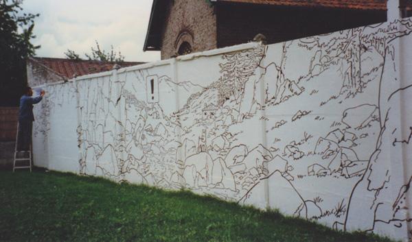 le mur prends forme…