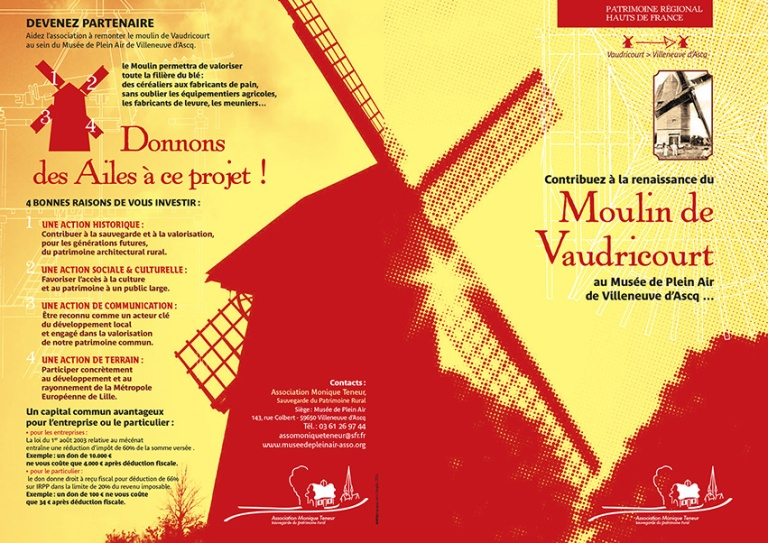 Plaquette mécénat Moulin